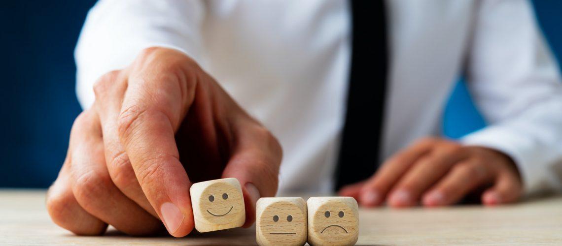 Conceptual image of customer satisfaction
